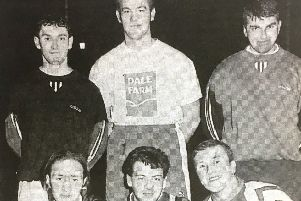 The Buckfast Albion team who took part in the PW Sales six-a-side tournament at Banbridge Leisure Centre in 1996