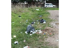 Rubbish dumped by Dariusz Laskowsk in a council car park off Fort Cumberland Road. Picture: Portsmouth City Council