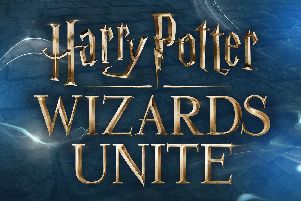 Logo for the new Harry Potter: Wizards Unite augmented reality game inspired by Pokemon Go. Picture: Niantic/PA Wire