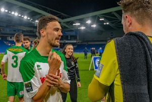 Jimmy Muitt pictured after helping the Rocks win the Sussex Senior Cup / Picture by Tommy McMillan