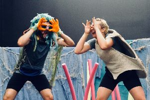 Todos Teatro perform Turtles Don't Like Plastic. Picture: Elizabeth Otway