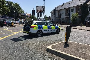 Police in Milton Road. Picture: James Butler