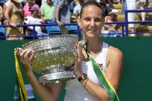 Karolina Pliskova is the Ladies Champion at the Nature Valley International in Eastbourne (Photo by Jon Rigby) SUS-190629-190545002