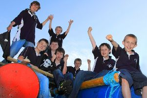 Pictured, from left, standing, Connor Lewis and Ellery Smith, sitting, Dex Oswold, BJ Knight, Liam Owen, Louis Smith and Bailey Pinkney.