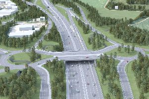 An artists impression of what the junction will look like. Picture: Highways England