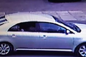 A photo of a Toyota Avensis which police believe has been used in connection with a string of burglaries in Leighton Buzzard and Dunstable