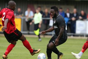 Junior Morias, who scored against Sileby on Saturday, will not be heading to Spain with the rest of the Cobblers squad. Picture: Pete Norton