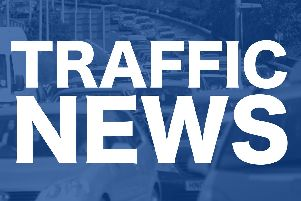 The incident has caused slow traffic between Port Solent and Havant