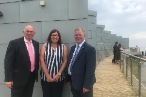Celebrating the start of summer are Lincolnshire County Council's executive member for economy and place Coun Colin Davie; Lisa Collins, manager of the Lincolnshire Coastal Destination BID;  and Coun Steve Kirk, ELDC portfolio holder for coastal economy.