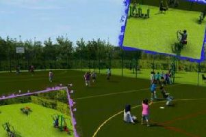 An artist's impression of the proposed sports court