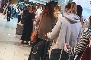 Passengers experience delays after flights were suspended for two hours following a problem with Gatwick's air traffic control systems' Shilpa Ganatra/Twitter/PA Wire
