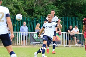Martin Cranie on the ball against Welwyn Garden City