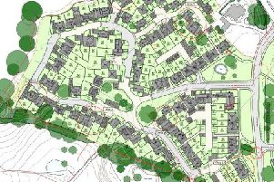 Amended layout of the proposed development