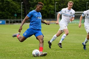 Jamal Lowe in action against UCD. Picture: Arnold Byrne