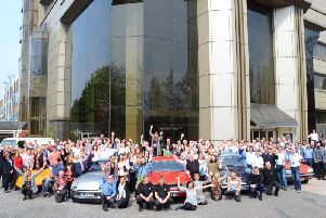 Vauxhall staff waved their goodbyes to Griffin House upon leaving the site in May