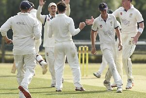 Hastings celebrate a wicket. All pictures courtesy of Liz Pearce.
