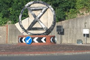 This Extinction Rebellion sign appeared on the Cuilfail sculpture in Lewes SUS-190407-080508008