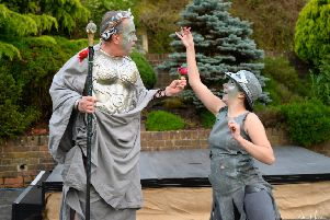 Oberon and Puck in A Midsummer Night's Dream. Picture by Peter Mould
