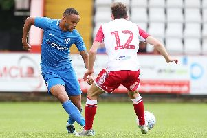Anton Walkes enjoyed an eye-catching display against Stevenage - topped by a sublime chip which struck the bar. Picture: Joe Pepler