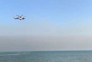 The Coastguard helicopter was circling the skies over St Leonards SUS-190723-190009001