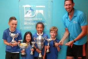 Broadwater C of E Primary School have received a top sports accolade