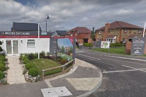 Entrance to the Priors Orchard development (photo from Google Maps Street View)