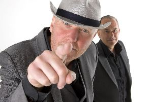 Heaven 17 are at the Jack Up The Summer festival on the Isle of Wight, August 10, 2019. From left: Glenn Gregory with Martyn Ware