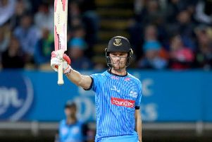 Laurie Evans was one of the Sussex batting heroes / Picture by SNAP for Sussex Cricket