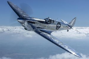 Newly restored MK IX Spitfire named 'Silver Spitfire'. Picture: John M. Dibbs/IWC/PA Wire