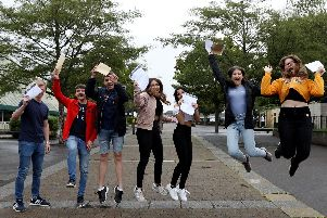 Pupils celebrate at GCSE results day in 2018. Picture: Chris Moorhouse