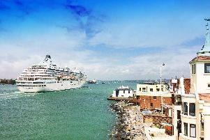 The Crystal Symphony cruise ship in Portsmouth
