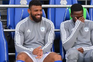 Striker Isaac Vassell came off the bench to score for Cardiff today