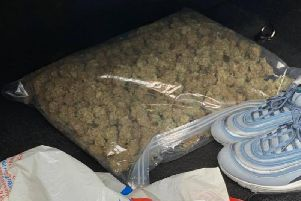 Items found in the boot of the vehicle. Photo from Leighton Buzzard Community Policing Team
