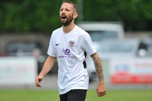 Dean Carden netted the winner for Horsham YMCA. Picture by Steve Robards