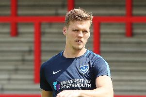 Kenny Jackett believes Sean Raggett is over the elbow injury which nudged him out of Pompey's first-team. Picture: Joe Pepler
