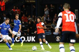 Izzy Brown moves the ball against Ipswich Town