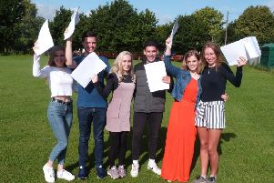 Pupils at the Weald in Billingshurst celebrated their results