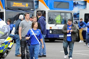 Those Pompey fans catching coaches to Sunderland on Saturday face a 2am start, following Sky insisting on a new kick-off time. Picture: Malcolm Wells