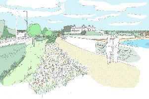 Sketches of what the sea defences off the Eastern Road in Portsmouth could look like South of the Harvester. Picture: Portsmouth City Council