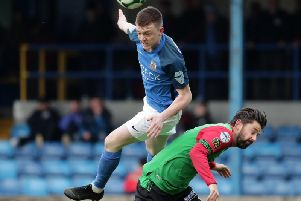 Glenavon's James Singleton.