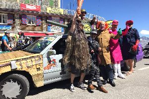 Gosport's Wacky Racers dressed up as characters from the popular cartoon series, and won the Two Ball Banger Rally in their themed car