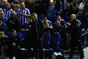 Town chief Graeme Jones watches on at Hillsborough last night