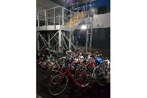 Bikes recovered by the police in Portsmouth on August 21, 2019'Picture tweeted by Hants Response Cops