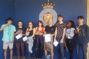King's Academy students celebrating their results