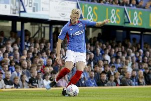 Pompey's Ross McCrorie. Photo by Robin Jones.