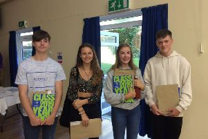 Seaford Head students celebrating their GCSE results