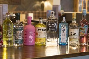 Some of the gins that will be available as part of the 17-day festival at the Red Lion. EMN-191208-125416001