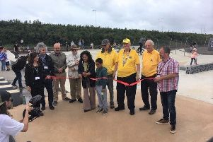 Seaford mayor Nazish Adil officially opening the new skate park on Saturday (August 17)