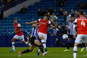 James Collins loses out against Sheffield Wednesday on Tuesday night