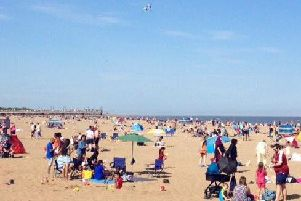 Skegness has enjoyed record temperatures over the Bank Holiday.